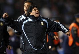 ویدیو   دویدن و خوشحالی عجیب مارادونا بعد از گلزنی مهاجم ایرانی