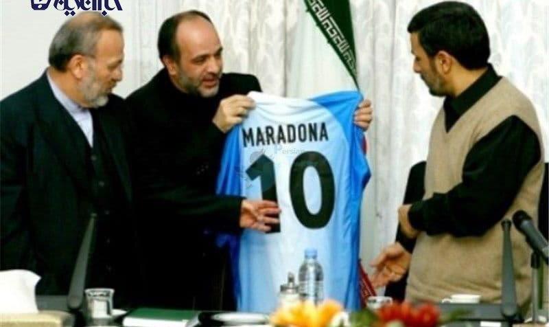 هدیه مارادونا به محمود احمدی نژاد + عکس