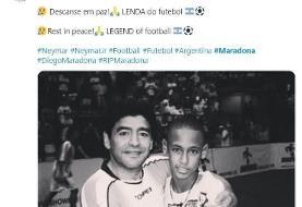 واکنش نیمار به درگذشت مارادونا