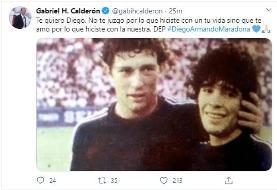 عکس| واکنش سرمربی سابق پرسپولیس به درگذشت مارادونا