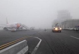 مه شدید پروازهای اهواز را به تاخیر انداخت