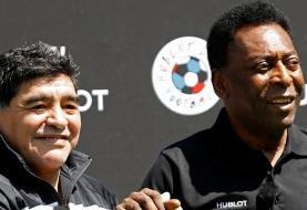 واکنش پله به درگذشت مارادونا؛ روزی با دیگو در آسمانها فوتبال بازی خواهیم کرد