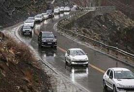 بارش برف و باران در جاده های ۱۸ استان کشور