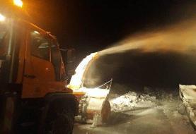 راه ۱۲۰ روستای هشترود در محاصره برف است