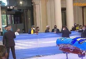 تصاویر | مراسم تشییع مارادونا در کاخ ریاست جمهوری آرژانتین با حضور مردم و مقامات