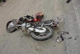 واژگونی موتورسیکلت روی پل ۹ دی