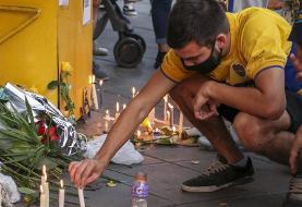(تصاویر) هواداران سوگوار از دست دادن مارادونا