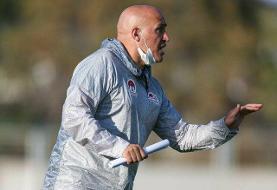 منصوریان: از بازیکنانم راضی هستم اما از خودم نه/مشکل ما نبود هواداران است