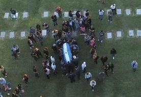 ویدیو / مارادونا برخلاف وصیتش برای مومیایی کردن او، به خاک سپرده شد