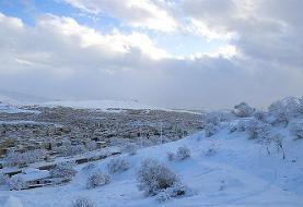 بارش یکمتری برف در کردستان