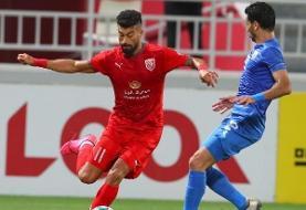 پیروزی الدحیل در شب گلزنی رامین رضاییان/نخستین گل روزبه چشمی در قطر