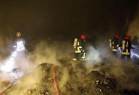 حریق کارگاه ۲۰۰۰ متری تولید مواد نفتی در جاده ورامین