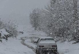 راه ارتباطی ۱۲۰ روستای هشترود بسته شد/ارتفاع برف به ۴۰ سانتیمتر رسید