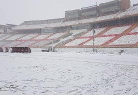 ورزشگاههای به ظاهر مدرن و تعویق بازی با بارش برف و باران!