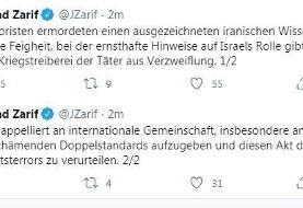 فراخوان ظریف به دول اروپایی با زبان آلمانی در پی ترور فخریزاده