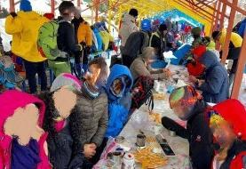 عکس یادگاری کوهنوردان با کرونا/ تهران وضعیت قرمز، ارتفاعات سفید!