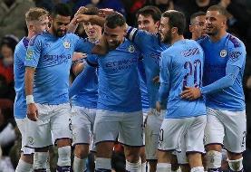 قدرتنمایی منچسترسیتی در لیگ برتر با ۵ گل