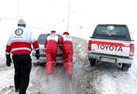 نجات ۲۴ نفر در گردنه گله بادوش الیگودرز