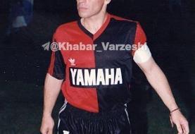 مارادونا در لباس تیم محبوب کودکی های مسی/عکس