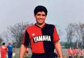 شادی گل «لیونل مسی» به یاد «دیهگو مارادونا»
