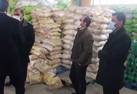 کشف ۱۲ تن برنج احتکار شده در یاسوج (عکس)