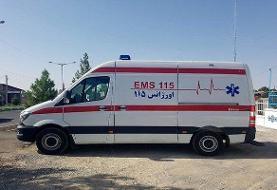 ۶ مصدوم حادثه خرمآباد به بیمارستان منتقل شد/ تجمع مردم در محل
