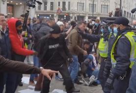 ببینید | دستگیر شدن بیش از ۶۰ نفر در اعتراضات علیه قرنطینه در لندن