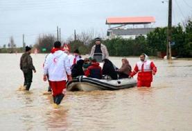 گزارش مجموع امدادرسانی های انجام شده در استان های درگیر سیل و برف