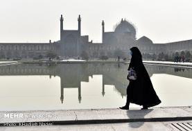 هوای اصفهان در وضعیت نارنجی/زور سامانه جوی به آلایندهها نرسید