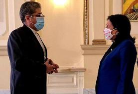 تسلیم استوارنامه سفیر کشورمان به رئیسجمهور گرجستان
