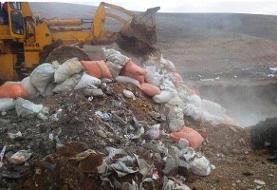 کشف ۳۰ تن برنج کپکزده از یک گاراژ متروک در کرمانشاه