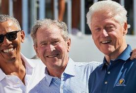 اوباما، بوش و کلینتون داوطلبانه مقابل دوربینها واکسن کرونا میزنند