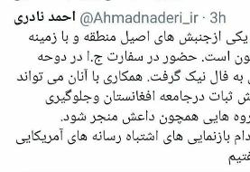 توئیت نماینده مجلس درباره لزوم همکاری با طالبان