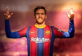 عکس   مجسمه مسی در باشگاه بارسلونا   ستاره بارسلونا را پیر کردند