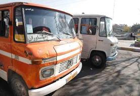 مینیبوس به جای اتوبوس درخط شهرک شهید بروجردی