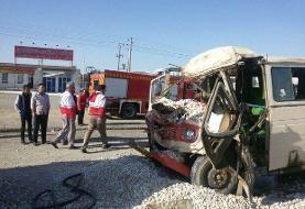 ۳۰ کارگر پتروشیمی مسجد سلیمان بر اثر تصادف زنجیرهای مجروح شدند