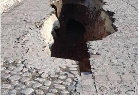 قدیمیترین سازه کرج فرو ریخت/ تصویر