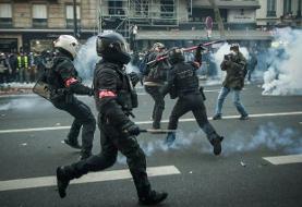 درگیری پلیس فرانسه با معترضان به لایحه امنیتی