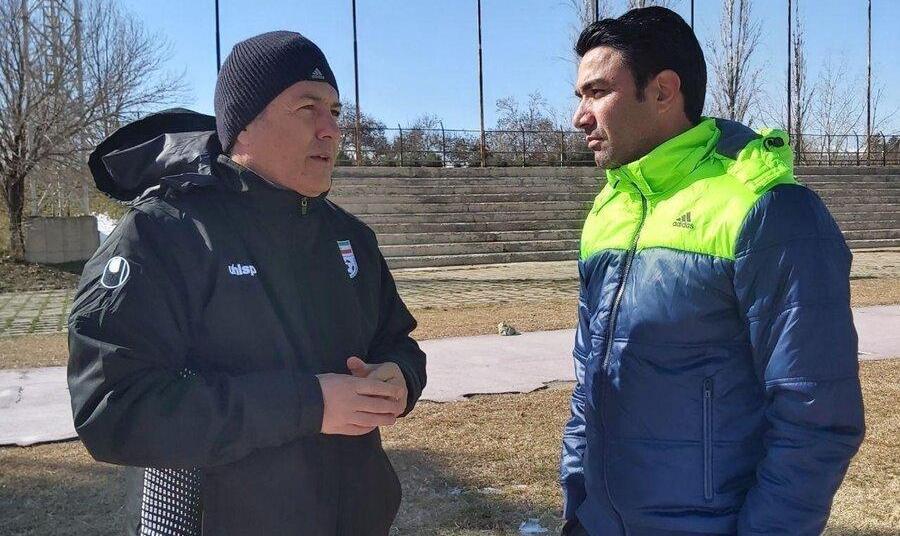 حضورسرمربی جدید تیم ملی در تمرینات فولاد خوزستان