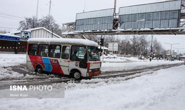 فوت و مصدومیت ۱۵۵ نفر طی ۴۸ ساعت گذشته بر اثر بروز برف و کولاک در ۱۵ استان