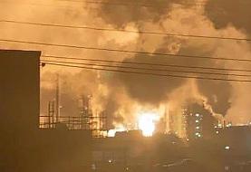 فیلم | انفجار مهیب در یکی از پالایشگاههای عظیم آمریکا