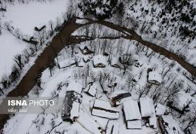 هشت روستای کوهستانی لنگرود درگیر برف هستند