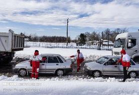 ۴۰ خودرو در استان سمنان امدادرسانی شدند/ تداوم کولاک و برف