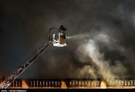 یک انبار بزرگ کالا در جنوب تهران طعمه آتش شد