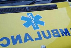 واژگونی آمبولانس در خیابان طالقانی