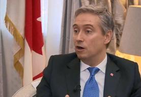 وزیر خارجه کانادا: حق با ایران است