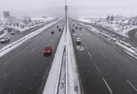 آغاز بارش برف در البرز | محورهای استان لغزنده است
