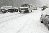 بارش برف در محورهای ١٠ استان کشور