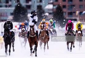 اسب سواری در برف به روایت تصویر