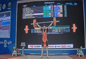 کسب سه مدال رنگارنگ توسط طاهری در وزنهبرداری جوانان آسیا